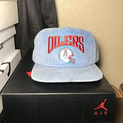 8fe7b9c523a Vintage 80s New Era Houston Oilers Texans SnapBack Hat Cap Retro NFL  Corduroy