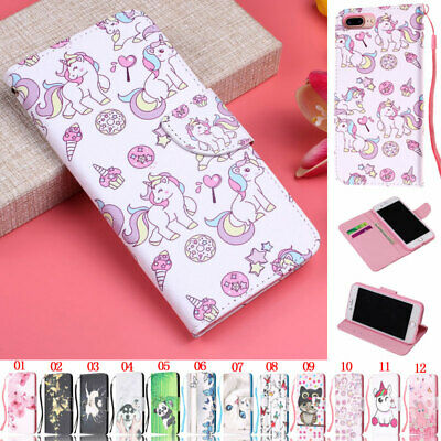 Unicorn Wallet Leather Flip Case Cover For iPhone 5S SE 6S 7 8 Plus X XR XS Max