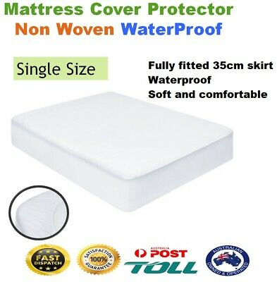 Luxury Bamboo Mattress Bed Matress Protector Waterproof Fully Fitted Cover Sheet