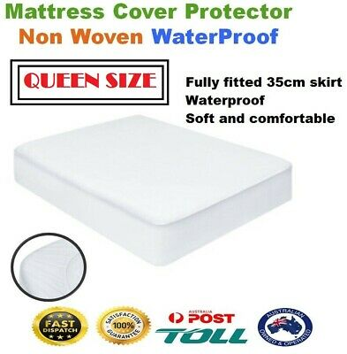 Luxury Bamboo Mattress Bed Matress Protector Waterproof QUEEN Fully Fitted Cover