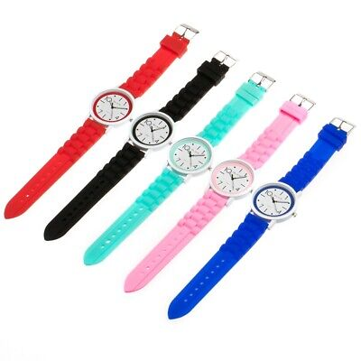 Kids Boys Girls Silicone Strap Sport Luminous Watch Casual Quartz Wrist Watches