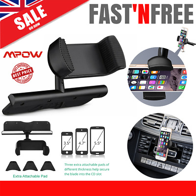 Mpow CD Slot Mobile Phone Holder for In Car Universal Stand Cradle Mount GPS