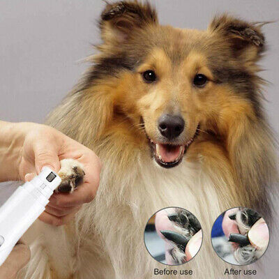 Pet Dog Cat Nail Trimmer Grooming Tool Professional Grinder Electric Clipper kit