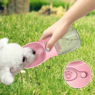 Cup Puppy Dog Cat Pet Water Bottle Drinking Travel Outdoor Portable Feeder 350ML