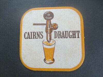 1 only CAIRNS DRAUGHT / CITY OF CHARTERS TOWERS 1970,S  Issue, BEER  COASTER
