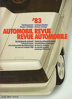 Automobil Revue Automobile 1983 • Catalogue Number • VERY GOOD