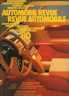 Automobil Revue Automobile 1980 • Catalogue Number • VERY GOOD