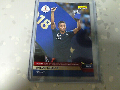 Panini Adrenalyn World Cup 2018 INSTANT Limited Auto 298  Mbappe psg france
