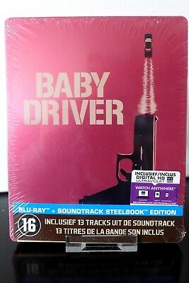 Blu ray steelbook Baby Driver + OST import Belgique Neuf avec VF
