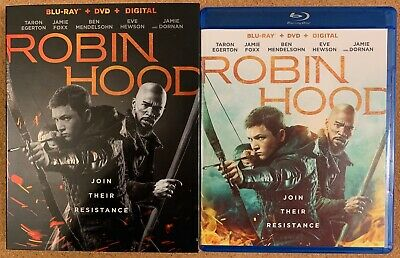 Robin Hood 2019 Blu Ray Dvd 2 Disc Set + Slipcover Sleeve Free World Wide Shippi