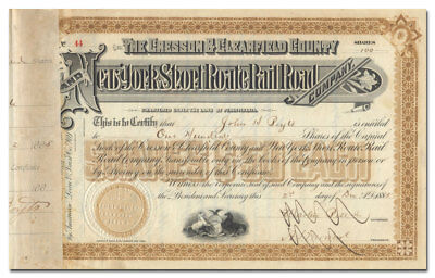 Cresson & Clearfield County & New York Short Route Railroad Co Stock Certificate