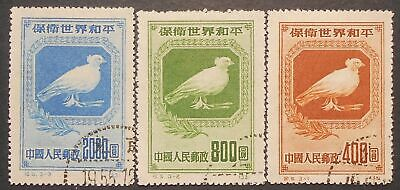 China PRC 1950 Defend World Peace (1st set), C5, Scott 57-59, used