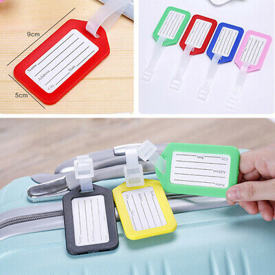 Travel Luggage Bag Tag Name Address ID Label Rubber Suitcase Baggage TagsNew
