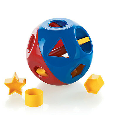 Tupperware Shape-O-Toy Ball Sorter in Red/Blue Color w/10 Yellow Shapes - NEW!