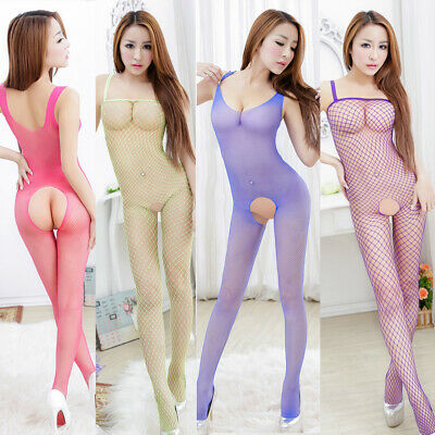 Body Stocking Bodysuit Catsuit Lingerie Fishnet Camisole Bodies Teddy Tights