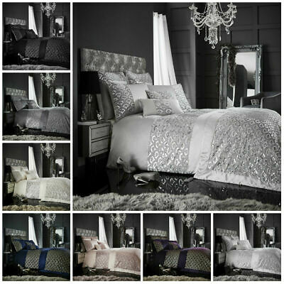 TESSELLA QUILT BEDDING DUVET COVER SET Pillow Case Fancy Laces Embroidered Style
