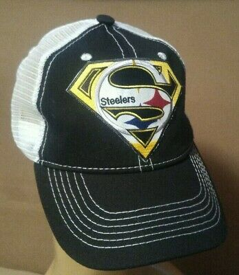 Pittsburgh Steelers Unstructured Brushed Black   White Hat Snapback Ball Cap c9bda4bf8