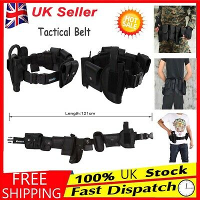 Newest Police Guard Tactical Belt Buckles With 9 Pouches Utility Security System