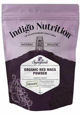 Indigo Herbs Organic Red Maca Root Powder 250g -1kg 100% Pure