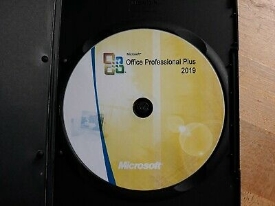 Microsoft Office Professional 2019 DVD Brand New Genuine - 1 PC Install