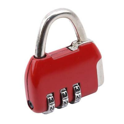 Combination Pad Lock 3 digit Long Neck for Suitcase Luggage Locks Padlock SS3