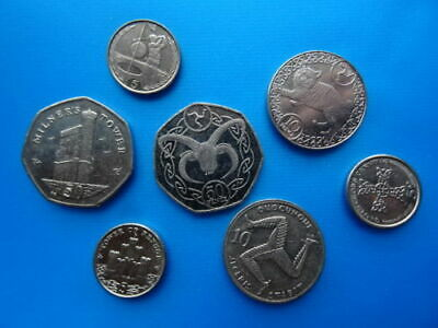 MANY coins of Gibraltar Jersey Guernsey & Isle of Man - British coins of Europe