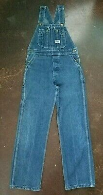 Vintage BIG SMITH Denim Jean Bib Overalls 32x30