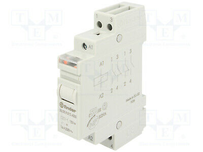 FINDER 20.23 Telerruptor 12Vcc 16Amp NO-NC CARRIL 20.23.9.012.4000
