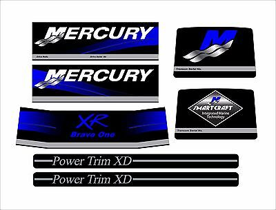 Mercruiser The New Blue  Bravo One  Xr Decals  W / Rams Sticker Set