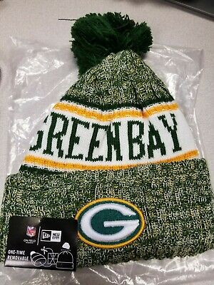 22509bdb7a9 Green Bay Packers New Era Knit Hat On Field Sideline Beanie Stocking Cap New !