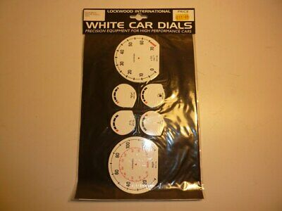 Lockwood White Dial Kit Early Vauxhall Nova 400Rvl