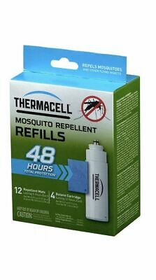 Thermacell R-4 MOSQUITO REPELLENT Refill, 48 Hour Pack-12 Matts + 4 Cartridges