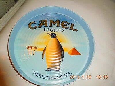 Tablett-Kellnertablett mit Werbung - Camel Lights                        19897