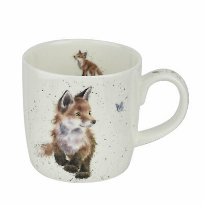 Royal Worcester Wrendale Designs Fox mug Born To Be Wild Foxes  Mugs