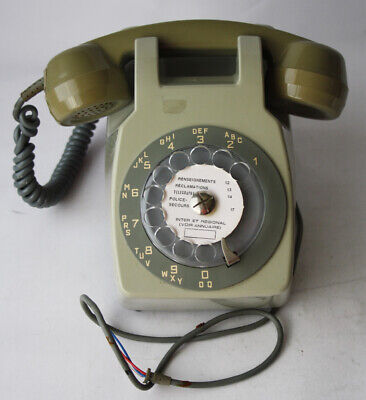 Rare Vintage 80's Socotel Telephone Dial Old Phone Wall France Brand New Nos !