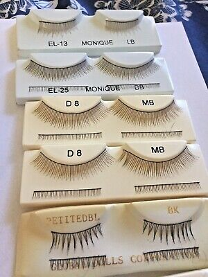Lot of doll eyelashes for reborn or doll repair