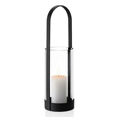 Blomus Nero Lantern Candle Holder Candlestick Tealight Steel / Glass Ø 12.3 cm