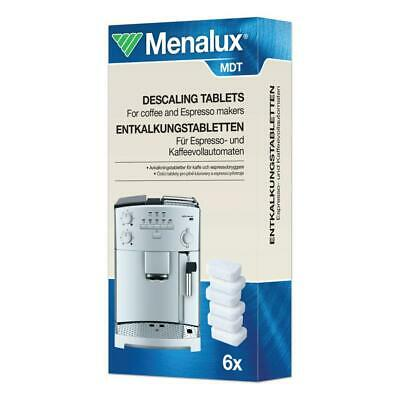 Menalux Descaling Tablets Cleaning Tablets for Espresso Coffee Machines 6 Tabs