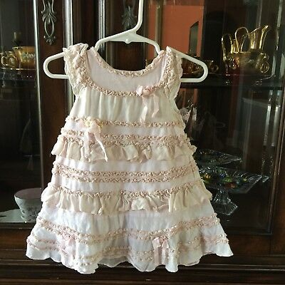 8fb0b223f86 BABY GIRL BOUTIQUE Kate Mack Biscotti Pink Dress 9 M Ruffles And ...