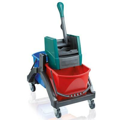 Leifheit Professional Duo Wet Wiping Cart, Cleaning Cart, Trolley, 59101