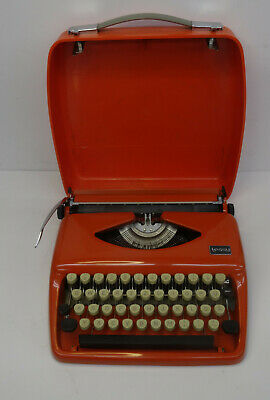 "vintage 70s typewriter - Coole orange Reise Schreibmaschine "" Tessy "" 70er"