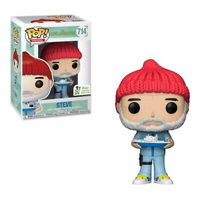 Funko Pop! Steve ECCC Shared Exclusive The Life Aquatic In Hand + Protector
