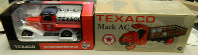 Texaco 1932 ford tanker Bank Replica Limited Edition And Texaco Mack AC