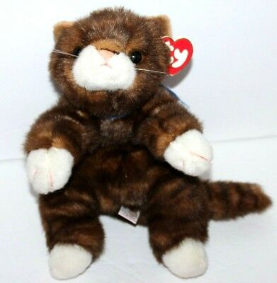 Ty CLASSIC Beanie Baby SPICE The CAT Brown Tabby Stripe 15