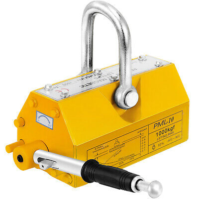 NEW 1000KG Steel Magnetic Lifter Heavy Duty Crane Hoist Lifting Magnet 2200lb