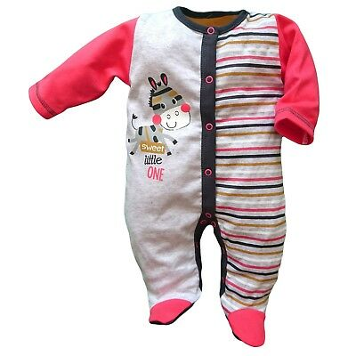 BNWT Baby Infant Girls Playsuit Sleepsuit 100% Cotton 3-6/9-12/12-18 Months