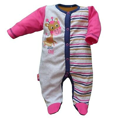 BNWT Baby Infant Girls Playsuit Sleepsuit 100% Cotton 12-18 Months