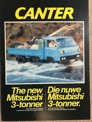 Car Brochure - 1981 Mitsubishi Canter - South Africa