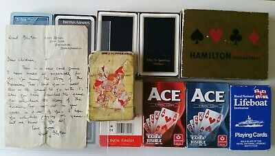 Collection of Playing Cards. Includes Capstan - British Airways -Enid Blyton.