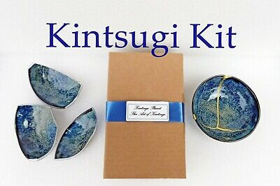 Kintsugi Repair Kit. GOLD AND SILVER POWDER